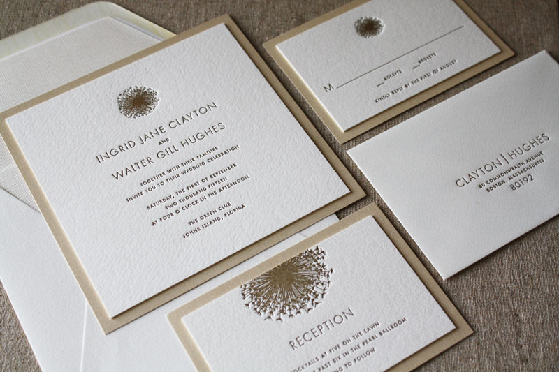 Elegant and beautiful letterpress printing from weiss printers letterpress invitation suite stopboris Image collections