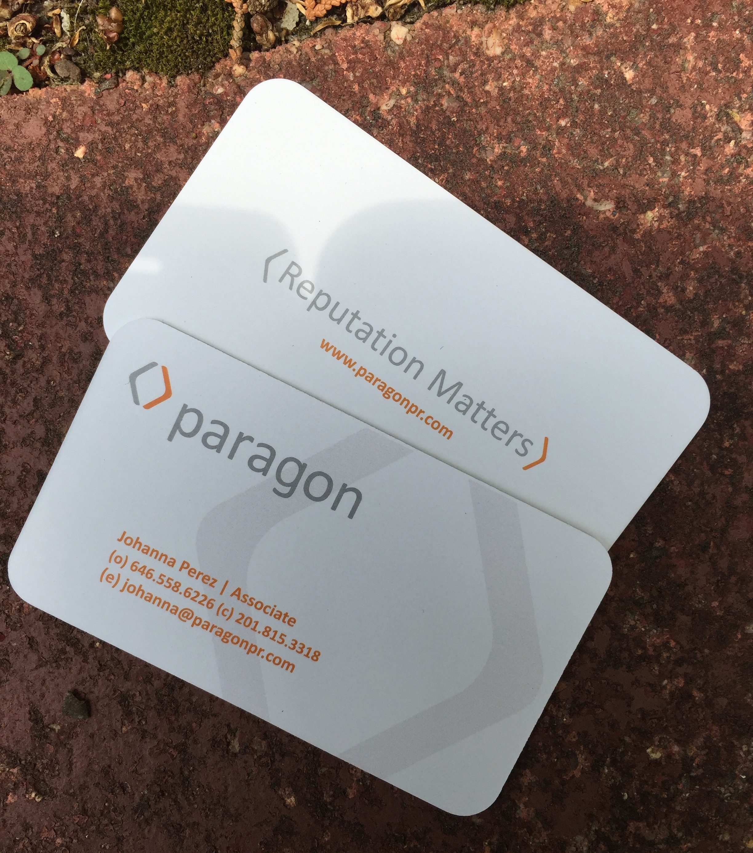Business cards for every budget large selection including letterpress paragon reheart Choice Image