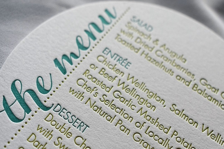 Elegant and Beautiful Letterpress printing from Weiss Printers